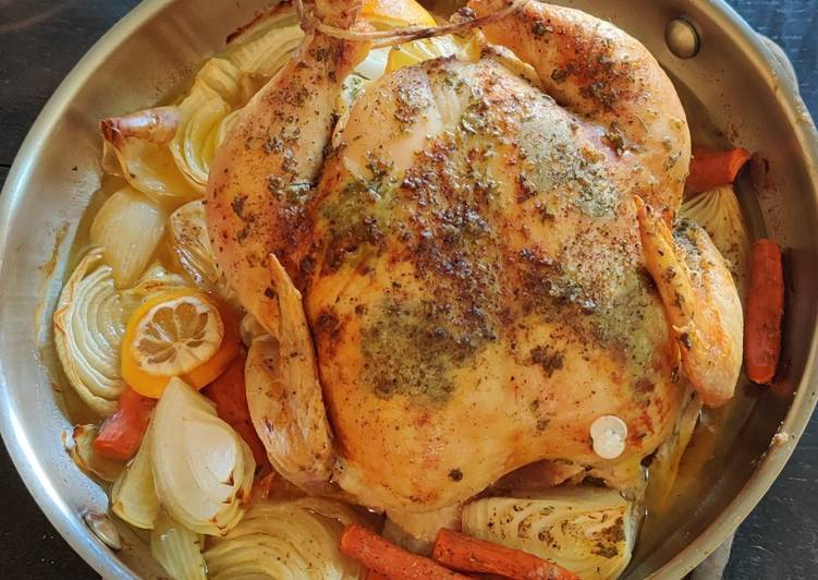 Herb Roasted Chicken with Gravy