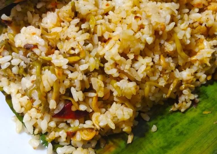 Nasi bakar bunga pepaya udang rebon