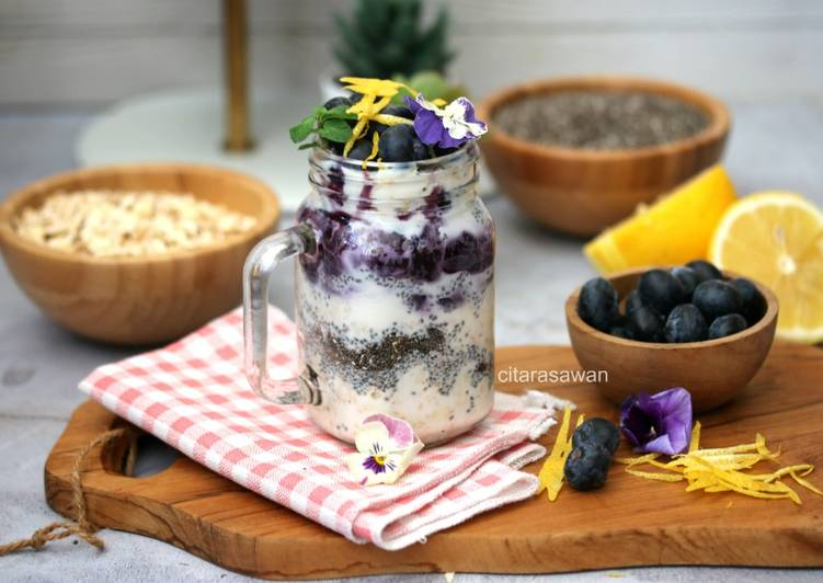 Overnight Oatmeal Blueberry Lemon - resepipouler.com