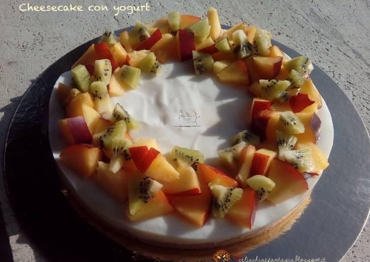 Ricetta Cheesecake con yogurt – senza glutine