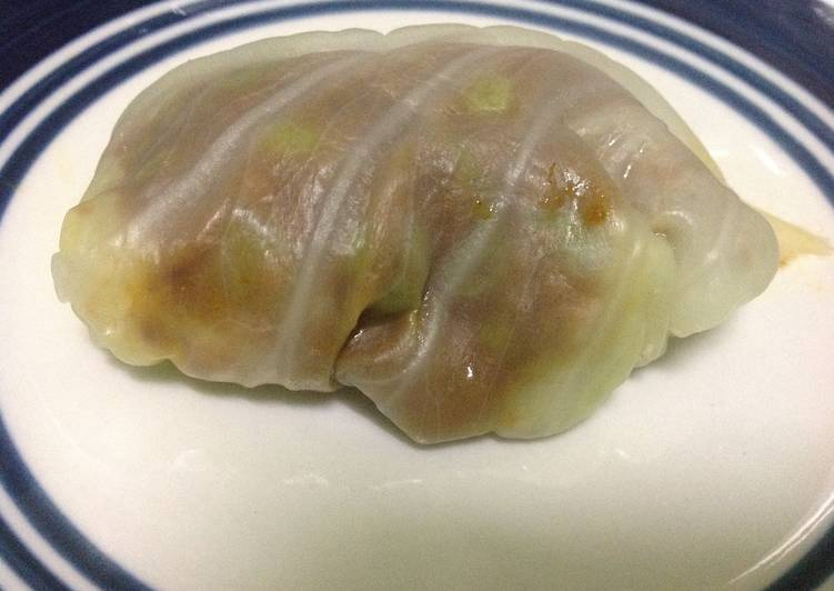 Baked Cabbage Rolls in White Sauce