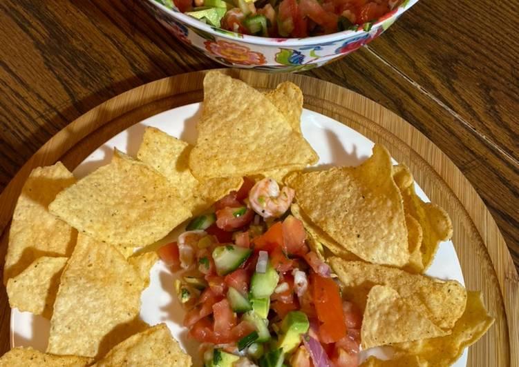 Easiest Way to Make Homemade Loaded Avocado Shrimp Salsa