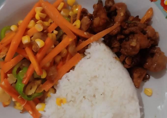 Menu Diet (DAY-1) Makan Siang - Ayam kecap