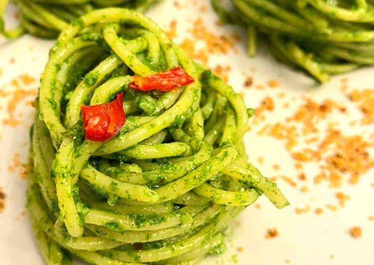Ricetta Spaghetti con pesto di rucola