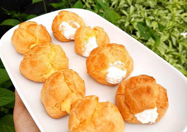 Kue Soes (cream puff) anti gagal