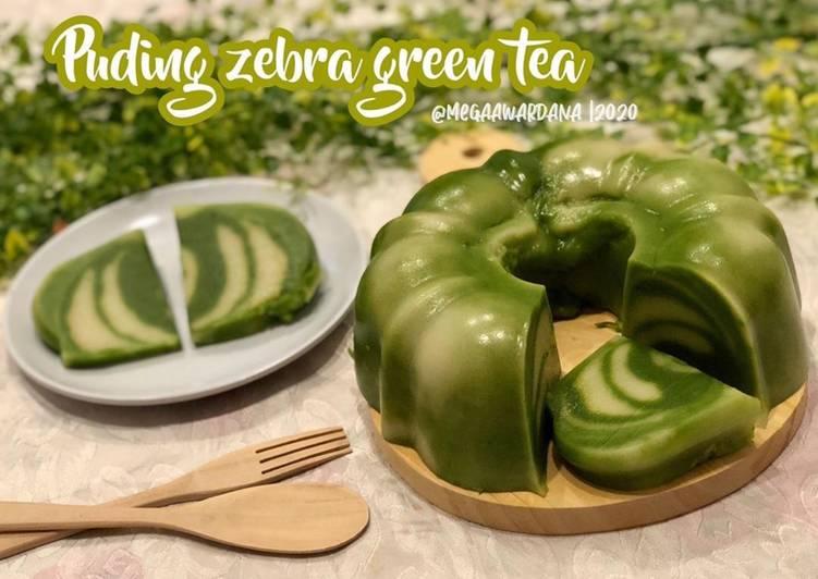 Puding zebra green tea