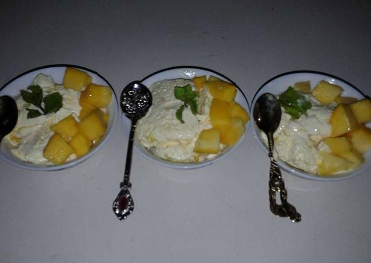 Mango ice cream