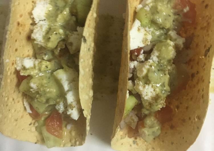 Masala papad tacos
