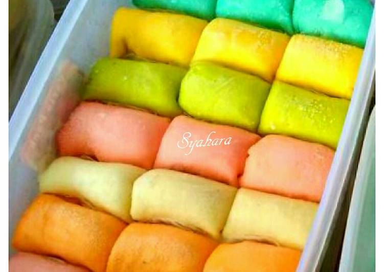 Resep Pancake Durian Rainbow Oleh Syahara Kitchen Cookpad