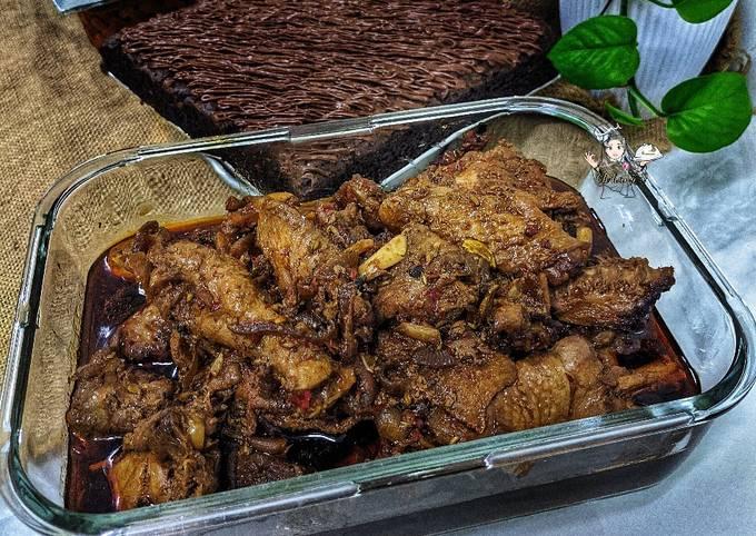 Ayam dara masak kicap jawa lama