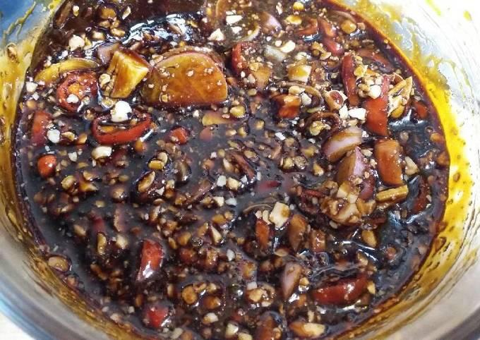 sambal kacang kecap (untuk sate atau ayam bakar) - resepenakbgt.com
