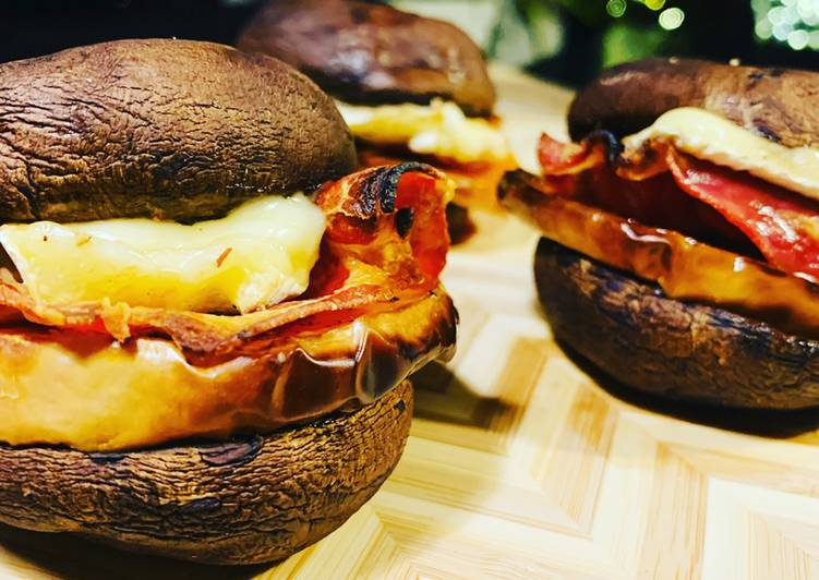 Mini burger champignons butternut bacon camembert