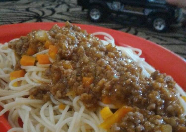Spaghetti Bolognese (untuk anak di atas 1 tahun)