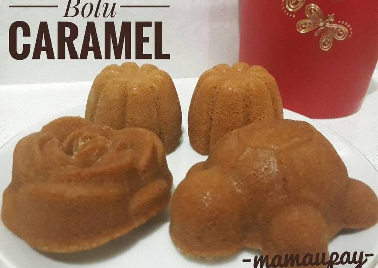 resep mengolah Bolu Caramel aka Bolu Sakura - Sajian Dapur Bunda