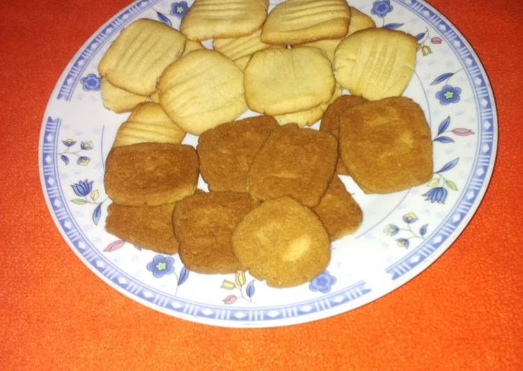 Butter cookies baked with jiko