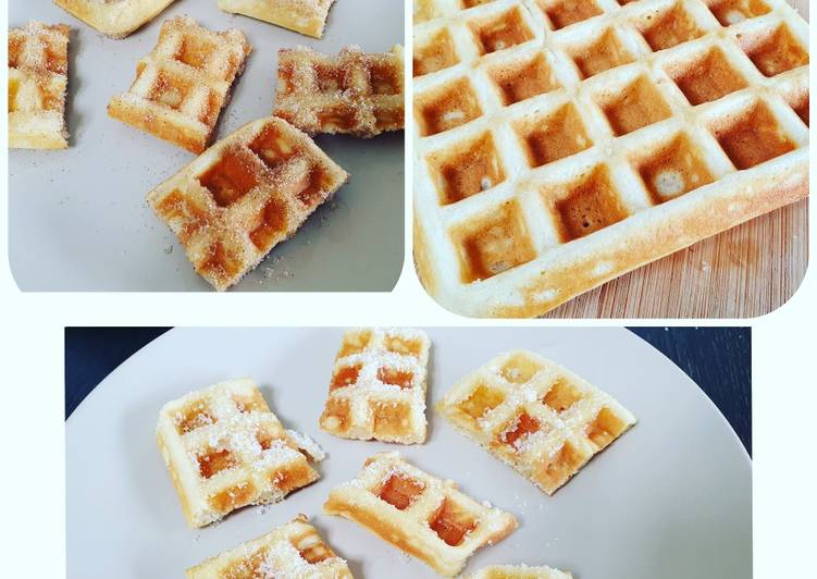 Simple Way to Prepare Homemade Churro waffles!!