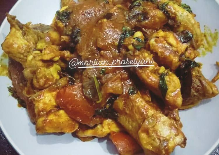 Resep Ayam woku kemangi enak dan mudah
