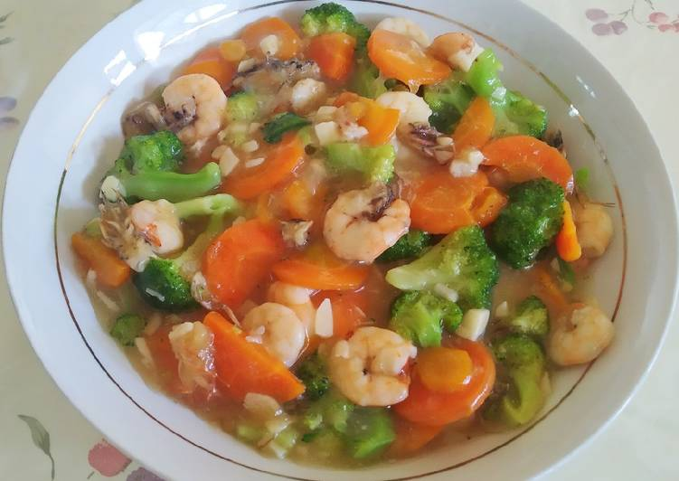 Resep Sayur Brokoli Wortel Cah Udang Anti Gagal