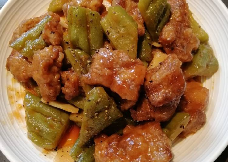 15 Minute Recipe of Fall Sweet and Sour Ampalaya