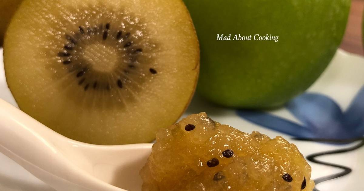 Sungold Kiwi Jam No Preservatives No Artifical Colors Healthy Jam Recipe By Madaboutcooking Cookpad