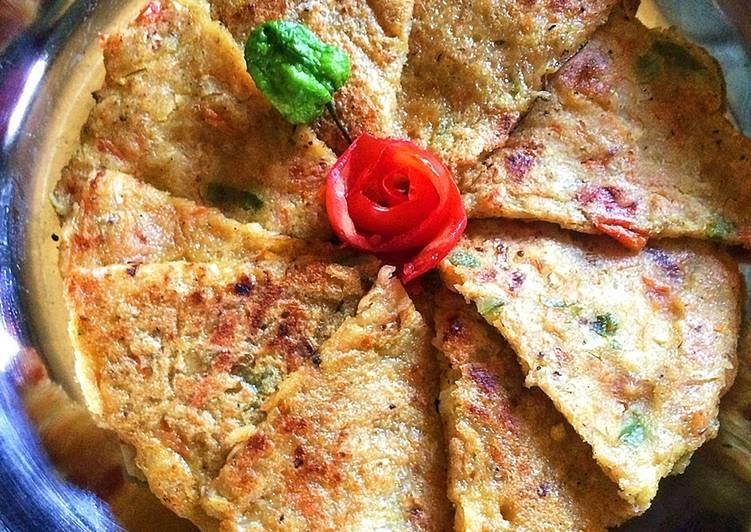 Sooji Veggie Pancake