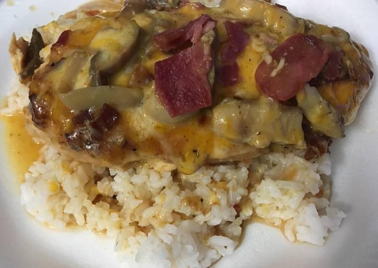 Simple Way to Make Homemade Crockpot Bacon 🥓 & Mushroom 🍄 Chicken 🐔