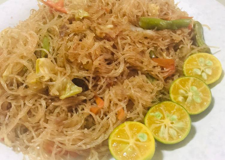 Easiest Way to Make Ultimate Filipino Pancit Bihon Guisado - Vermicelli Noodles Stir Fry