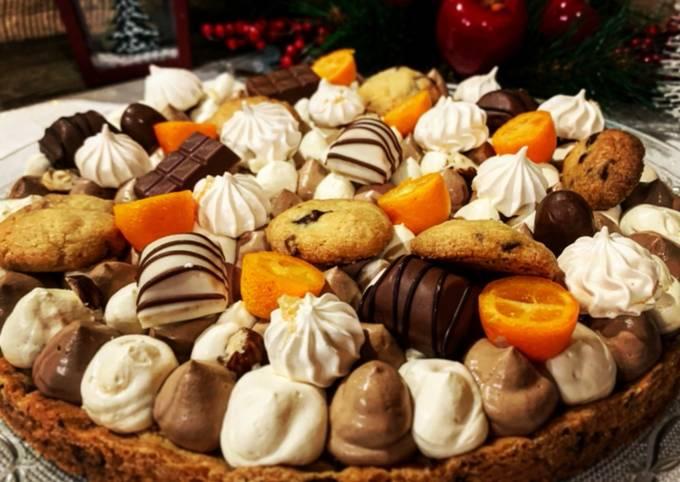 Tarte façon cookie au chocolat et kinder
