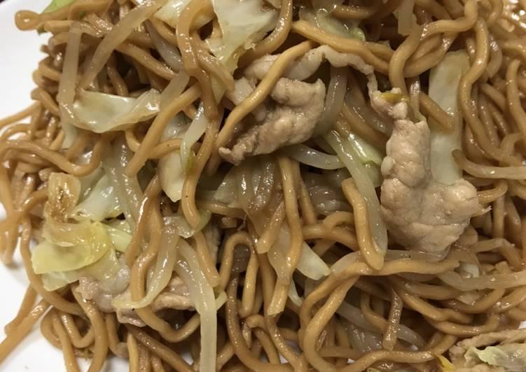 Steps to Make Favorite Yakisoba (Japanese stir fry noodles)