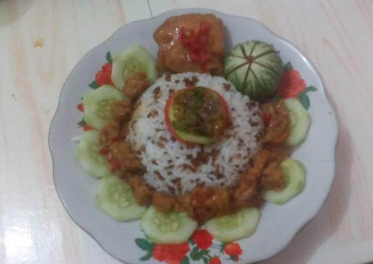 Nasi Abon TO (tutug oncom)