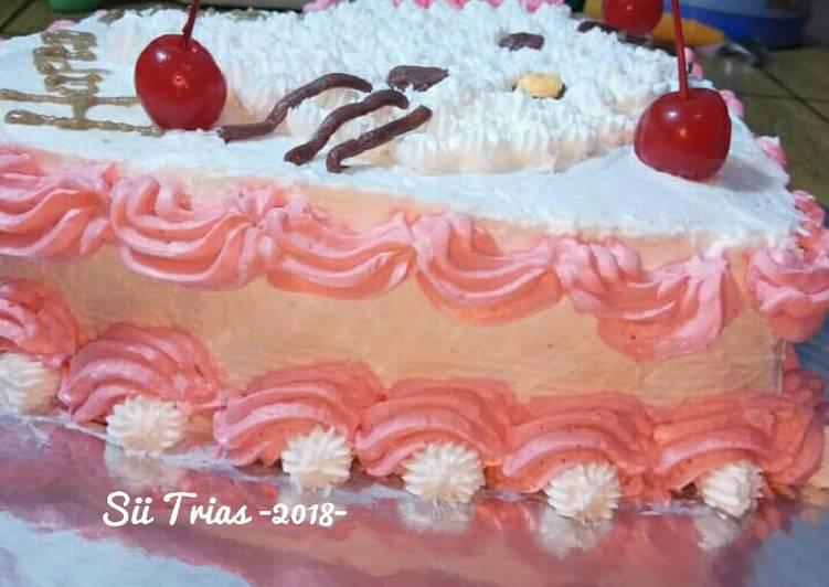 Buttercream simple,kokoh cocok untuk hiasan cake/cupcake