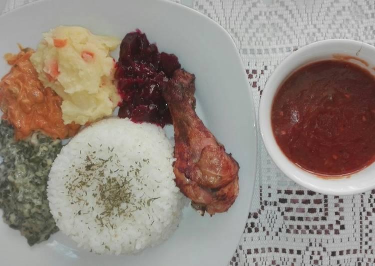 Tasty grilled chicken and veggies