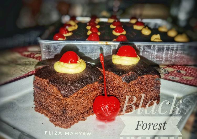 Black forest ny liem versi panggang dengan buttercream milo