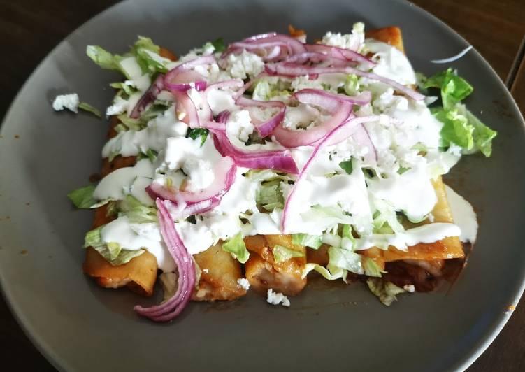Enchiladas de Frijol!
