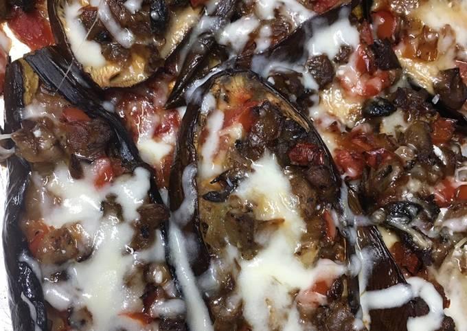 Easiest Way to Prepare Yummy Keto Friendly Stuffed Eggplant