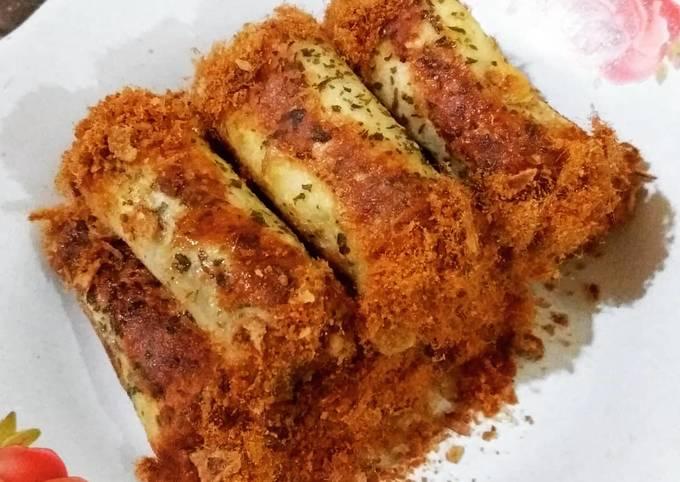 Roti Roll Abon Praktis (Roti Tawar)