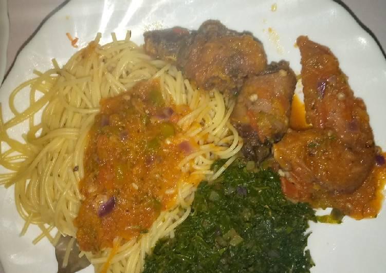 Recipe of Perfect Oregano spaghetti