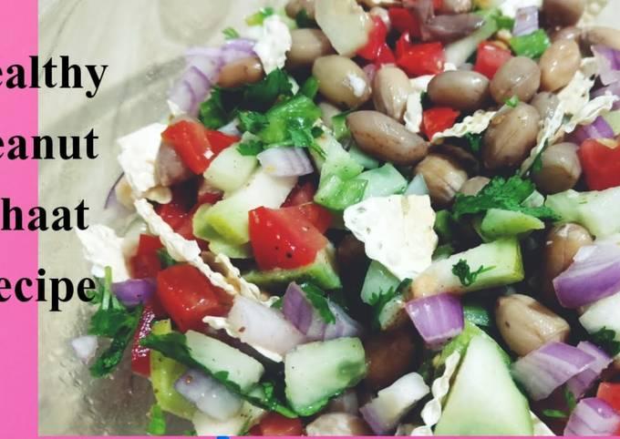 Healthy Boiled Peanut chaat Recipe // peanut Salad Recipe