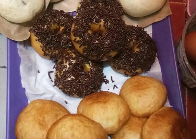11 Langkah Resep Donat Bakpao Amp Roti Goreng Eggless Satu Adonan Jadi 3 Macam Kue Yang Sederhana