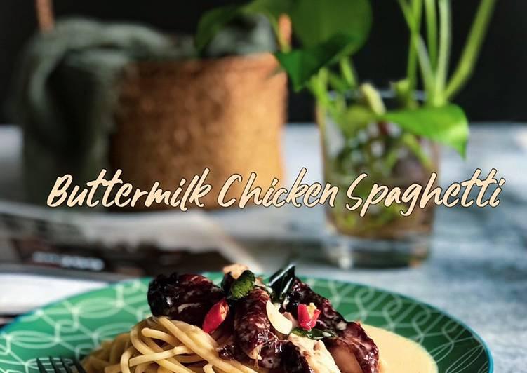 Buttermilk Chicken Spaghetti #DapurAzahZara