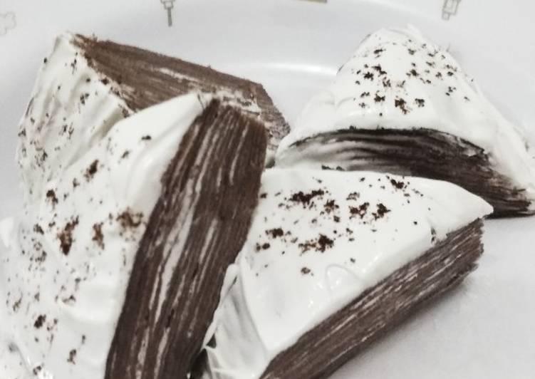 Mile Crepes coklat drink beng2