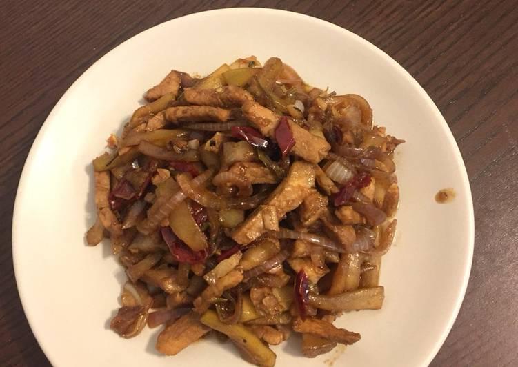 Calabash stir fry