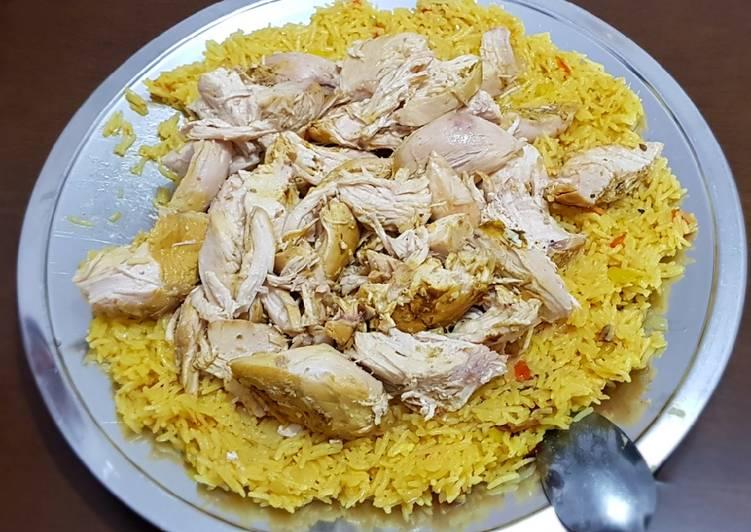 How to Boil Appetizing Arabian dish (kapsa) الكبسة العربية بالدجاج