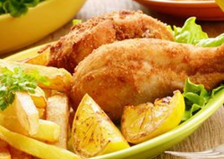 طريقة عمل دجاج مقلي مقرمش