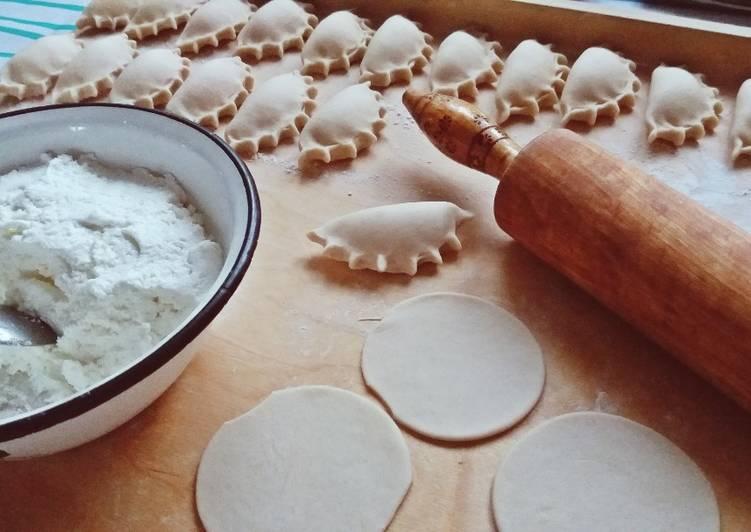 Pierogi na słodko z białym serem