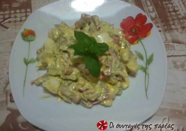 Egg salad with mustard and mayonnaise