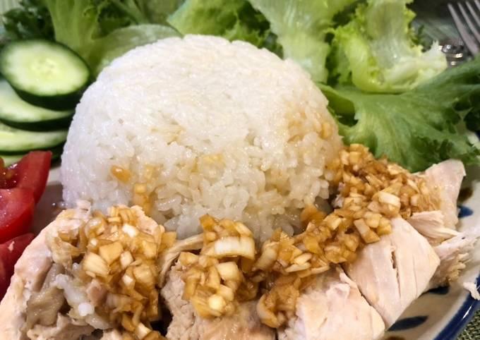 Thai Style Chicken Rice (Kao Man Gai)