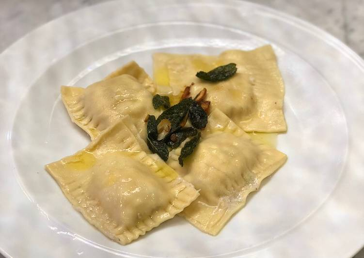 Easiest Way to Make Any-night-of-the-week Homemade crab ravioli with sage lemon butter sauce