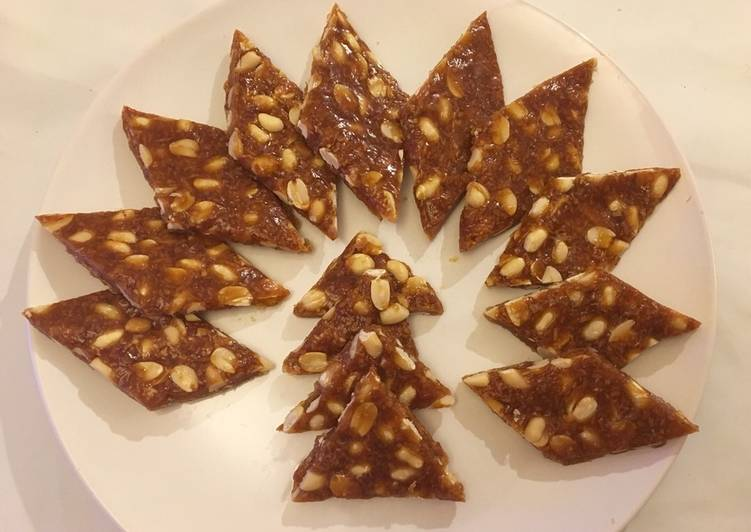 Simple Way to Make Super Quick Homemade Peanut and coconut bar/chikki