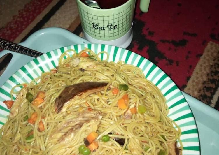 How to Make Yummy Spaghetti jellof